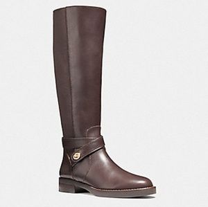 Coach Brown Leather Knee High Boots